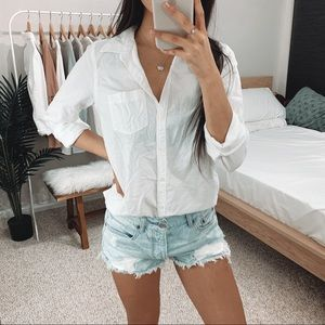 Hollister - White Oxford Button Up Shirt